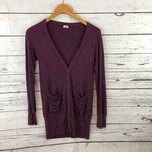 Splendid Button Up Long Sleeve Cardigan Size XS